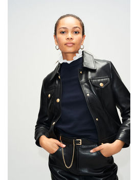 Leather Jacket With Pockets by Claudie Pierlot