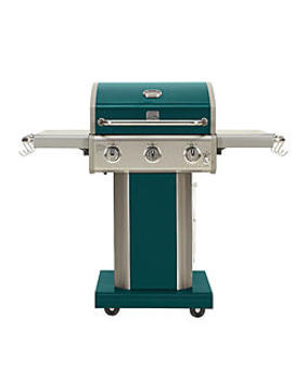 Kenmore 3 Burner Lp Grill With Foldable Side Shelves   Green Kenmore 3 Burner Lp Grill With Foldable Side Shelves   Green by Sears