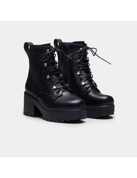 Gin Jewelled Platform Military Boots by Koi Footwear