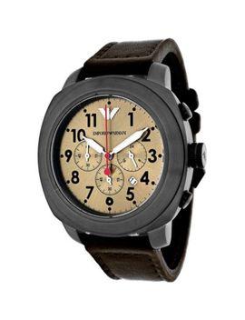 Emporio Armani 47mm Sportivo Quartz Chronograph Date Leather Strap Watch by Shop Hq
