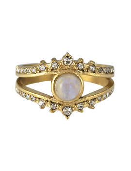 Lydia Moonstone Ring by Bohomoon