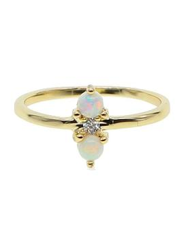 Skies Opal Cz Ring by Bohomoon