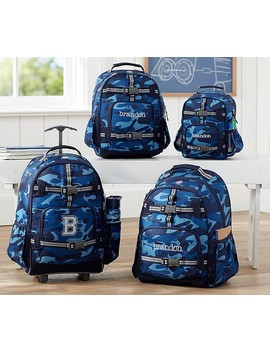 Mackenzie Blue Skateboard Camo Backpacks by Pottery Barn Kids