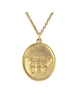 Bee Medallion Necklace by Bohomoon