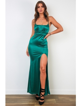 Dining Out Dress   Emerald Green by Stelly