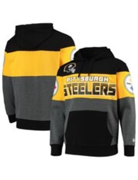 Men's Pittsburgh Steelers G Iii Sports By Carl Banks Black Extreme Special Team Pullover Hoodie by Nfl