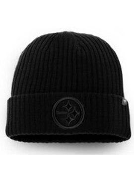 Men's Pittsburgh Steelers Nfl Pro Line By Fanatics Branded Black Team Haze Ii Cuffed Knit Hat by Nfl