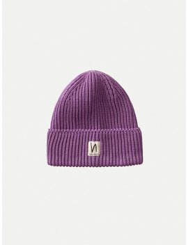 Tysson Ribbed Beanie Lilac by Nudie Jeans