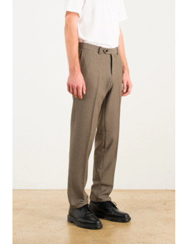 Menswear | Houndstooth Trousers, Brown by Olive