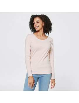 Organic Cotton Ribbed T Shirt   Lotus Pink by Target