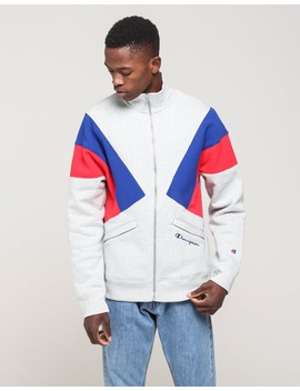 Champion Reverse Weave Colorblock Tj Grey/Surf/Scarlet by Champion