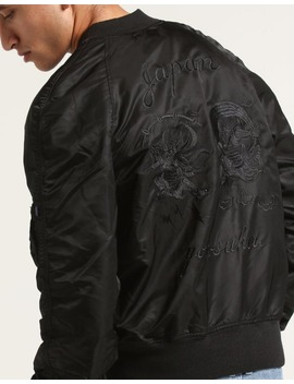Alpha Industries Ma 1 Souvenir Shinto Jacket Black by Alpha Industries