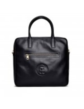 Honey Fucking Dijon Leather Travel Tote (Black) by Dover Street Market