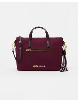 Mala Shopper M Cor De Vinho by Bimba Y Lola