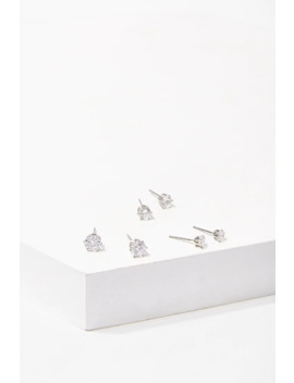 Cz Stud Earring Set by Forever 21