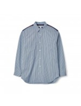 Comme Des Garçons Shirt Stripe Herringbone Shirt (Blue Stripe) by Dover Street Market