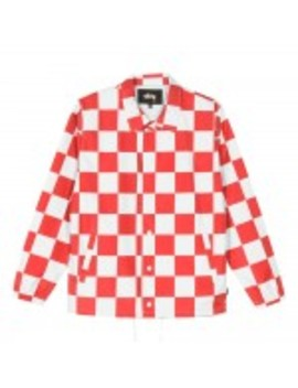 Stüssy Checker Coach Jacket (Red) by Dover Street Market