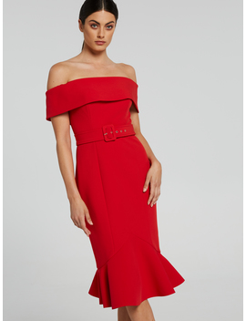 Amelia Off Shoulder Dress by Portmans