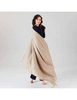 100% Cashmere Woven Throw Mink by Naadam