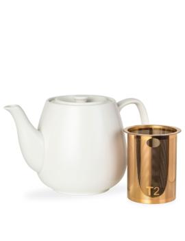 T2 Teaset Hugo White Teapot Large by T2 Tea