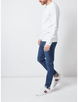 White Waffle Textured Long Sleeve T Shirt by Burton