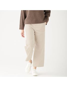 Stretch Corduroy Easy Wide Pants by Muji