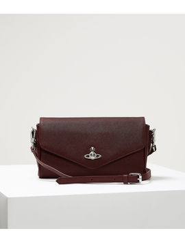 Victoria Large Crossbody Burgundy  by Vivienne Westwood