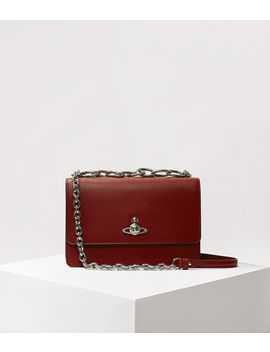 Florence Large Bag With Flap Red  by Vivienne Westwood