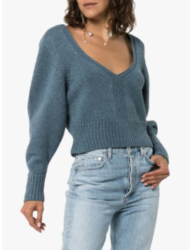 Charlette Wide Sleeve Cashmere Sweater by Khaite