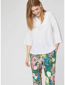 Georgette Loose Fit Lightweight Blouse Top by Thought