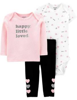 3 Piece Heart Little Character Set by Carter's| Baby