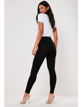 Jean Skinny Noir à Taille Haute Vice Petite by Missguided