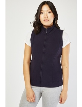 Sleeveless Zip Front Poly Fleece Jacket by Everything5 Pounds