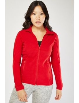 Zipper Front Micro Fleece Jacket by Everything5 Pounds