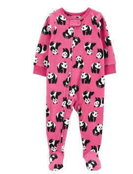 1 Piece Panda Fleece Footie P Js by Carter's | Baby
