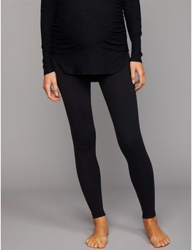Beyond The Bump Fold Over Belly Maternity Leggings by A Pea In The Pod