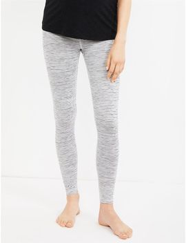 Beyond The Bump Fold Over Belly Striped Maternity Leggings by A Pea In The Pod
