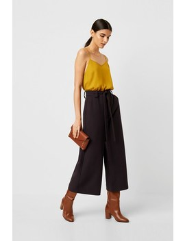 Whisper Ruth Cropped Flare Trousers by French Connection