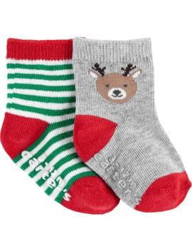 2 Pack Christmas Reindeer Booties by Carter's| Baby