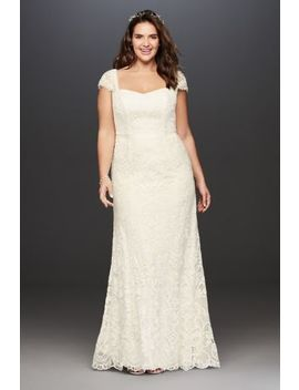 Melissa Sweet Vintage Lace Plus Size Wedding Dress by Melissa Sweet