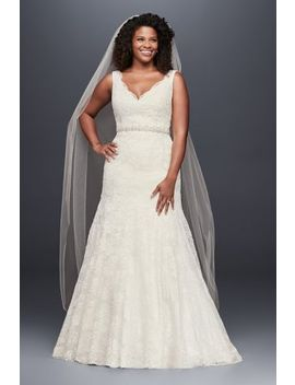 Jewel Scalloped Mermaid Plus Size Wedding Dress by Jewel