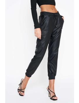 black-drawstring-vegan-leather-pants by luxe-to-kill