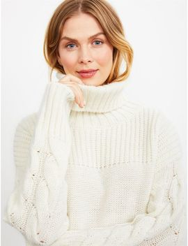 Pietro Brunelli Cable Knit Maternity Sweater by A Pea In The Pod