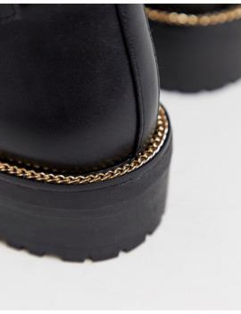 asos-design---armour---bottes-à-lacets-et-chaîne---noir by asos-design