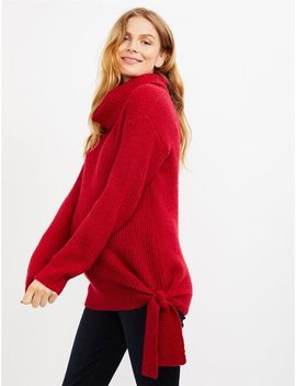 Ripe Cozy Tie Up Maternity Sweater by A Pea In The Pod