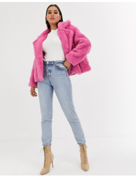 boohoo---veste-teddy-imitation-peau-de-mouton---rose by boohoo