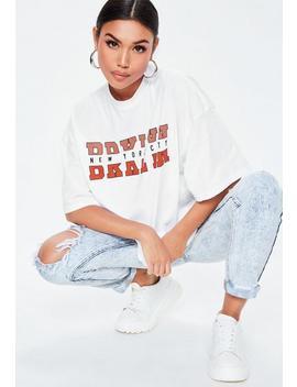 biały-luźny-t-shirt-brooklyn by missguided