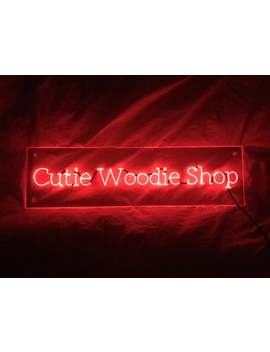 custom-|printing-font|-el-custom-neon-sign-on-clear-acrylic---an-awesome-gift-for-her-_-gift-for-him by etsy