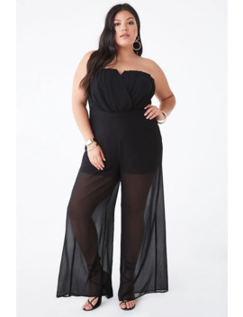 plus-size-strapless-chiffon-jumpsuit by forever-21