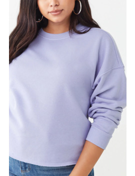 plus-size-fleece-crew-neck-top by forever-21